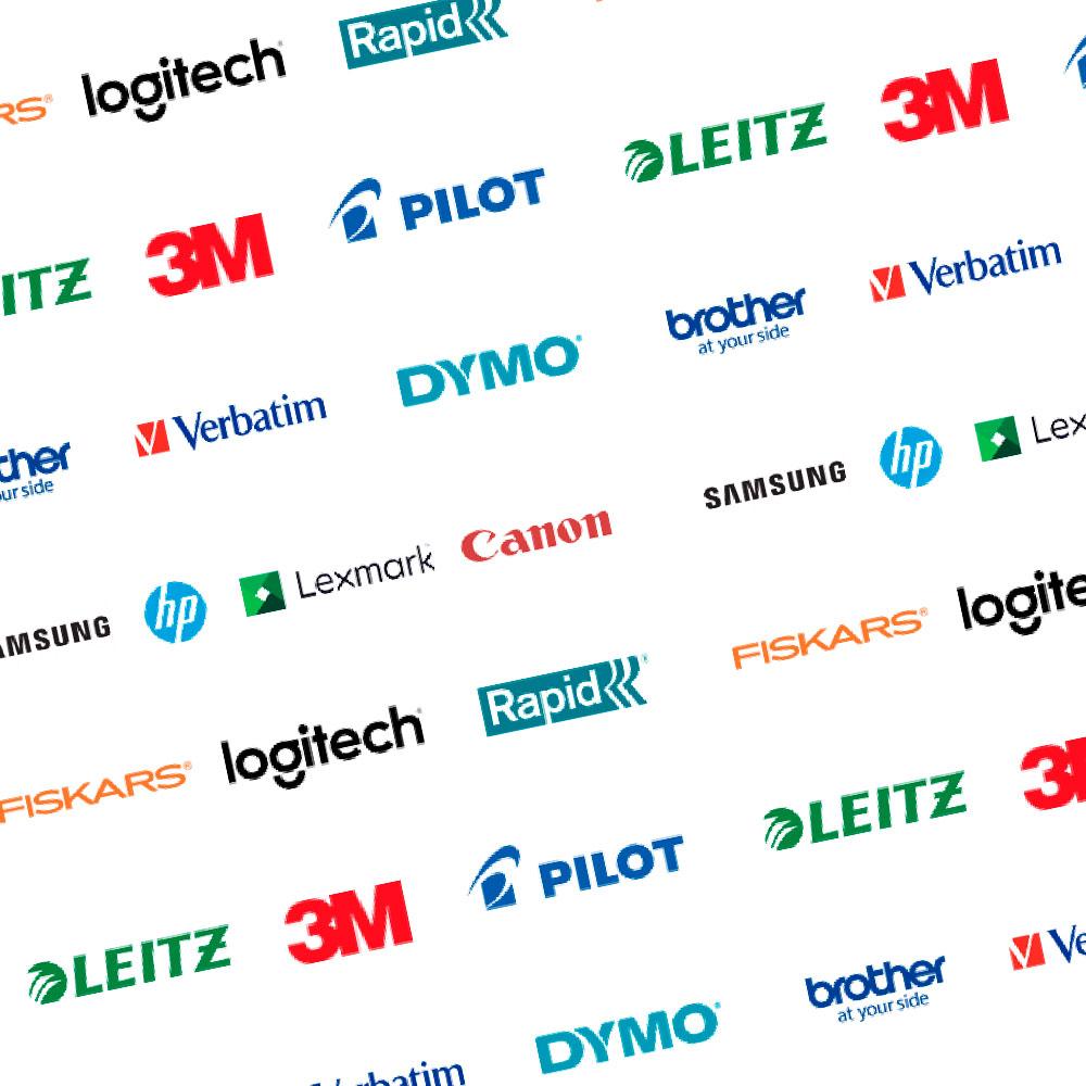 toimistotarvikkeet logot